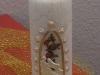 Hochzeitskerze mit Krakelierlack