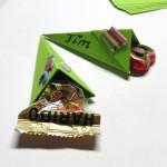 Mini-Zuckertüte als Tischdekoration