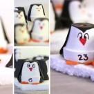 Bild 5: Fertiger Adventskalender mit Pinguinen