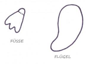 Bild 1 vorlagen f r f sse und fl gel bastelatelier krichling - Pinguin basteln vorlage ...